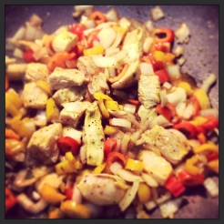 Peppers and Onions with Chicken