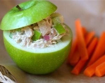 Chicken Salad in an Apple