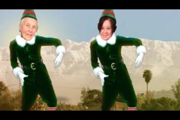 My mom as an elf