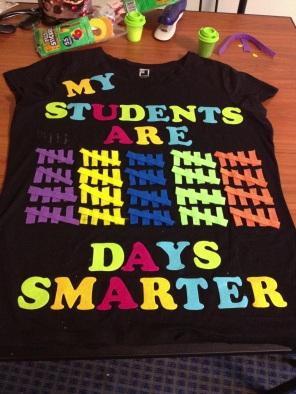 Nancy's 100 Day shirt :)