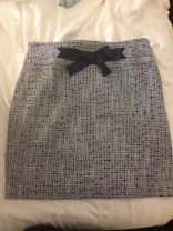 Loft High Waist Blue Woven Skirt