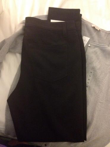 Loft Skinny Jeans and Gray Cardigan