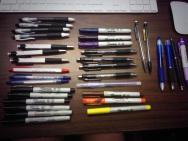 Soo many pens..