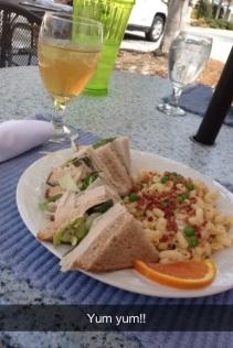 Turkey Walnut Berry Cream Cheese Sandwich, Pasta Salad & Mint Tea