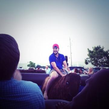 Goofball won the bull riding tournament