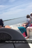 7 girls and a boat :)