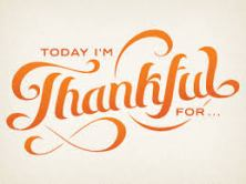 Thirty days of Thankful