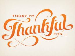 Thirty days of Thankful